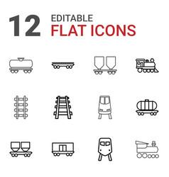 locomotive icons vector image