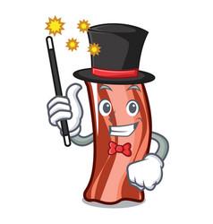 Magician ribs mascot cartoon style vector