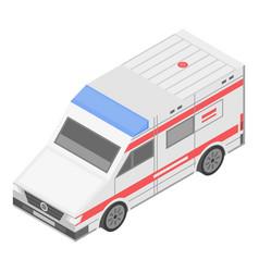 medical ambulance icon isometric style vector image