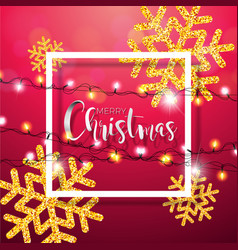 merry christmas with shiny gold vector image