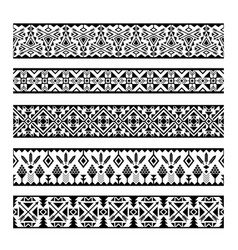 Mexican geometric seamless pattern borders vector