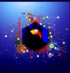 Modern art abstraction vector
