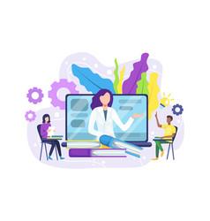 Online education concept banner vector
