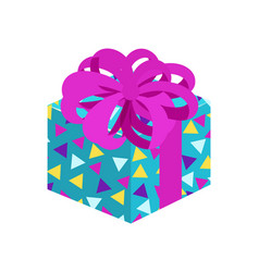 present with posh bow pattern vector image