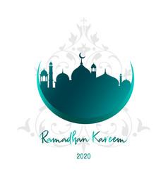 ramadan kareem beautiful islamic background vector image