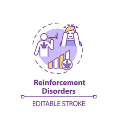 Reinforcement disorder concept icon vector