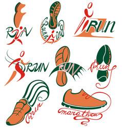 run icons vector image