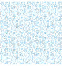 seamless pattern with icons business office vector image