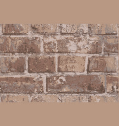 Seamless pattern with old brown brick wall vector