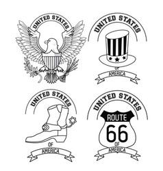 set of usa emblems vector image