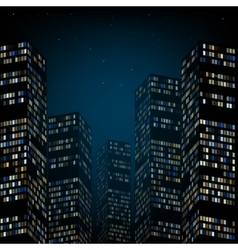 Skyscrapers and the night sky vector