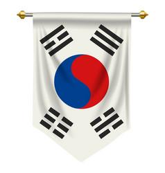 South korea pennant vector