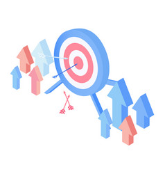 target audience attraction isometric vector image