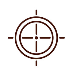 target weapon isolated icon vector image