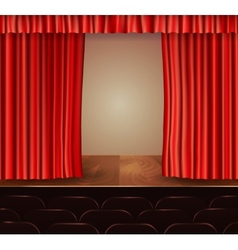 Theater curtains background vector