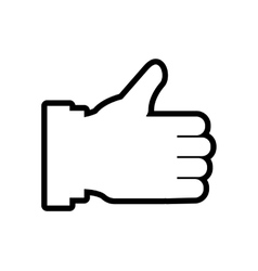 Thumbs up Human hand icon Gesture design vector image