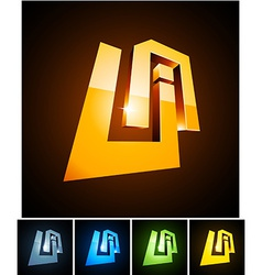 UA vibrant emblems vector