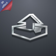 Upload icon symbol 3D style Trendy modern design vector