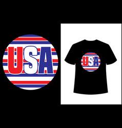 usa vintage style t-shirt design vector image