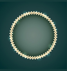 vintage gold frame with white pearls vector image