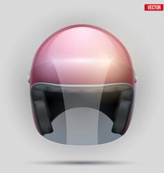 vintage motorcycle helmet with visor vector image