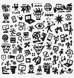 web symbols - icon set design elements vector image