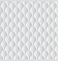 white and grey 3d abstract scales background vector image