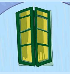 window in van gogh style vector image