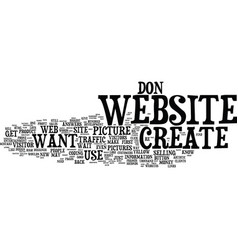 Your biggest mistake when you create a website vector