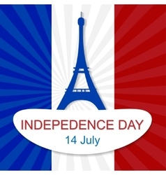 14th July Bastille Day vector image vector image