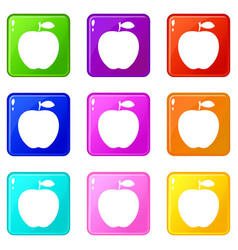 apple icons 9 set vector image vector image
