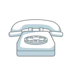 classic telephone communication call device retro vector image