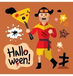Halloween Zombie Cartoon vector image vector image