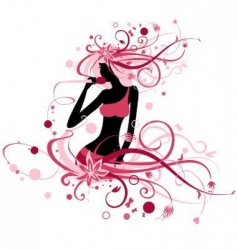 womanspring vector image