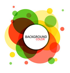 abstract circle banner for design vector image