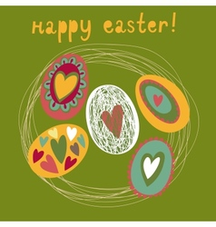 Colorful Easter card vector image