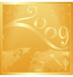 happy new year 2009 vector image