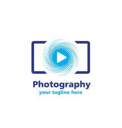 Photography business logo vector