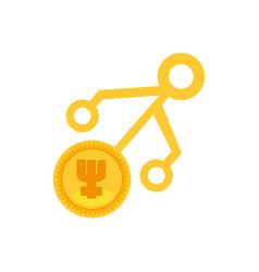 primecoin money golden virtual vector image
