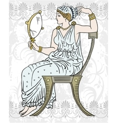 Ancient Greek woman vector image