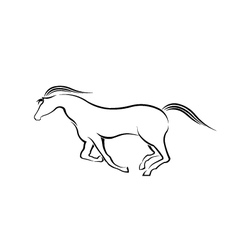 Horse running in style vector image vector image