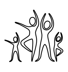 monochrome contour pictogram of practice of ballet vector image vector image