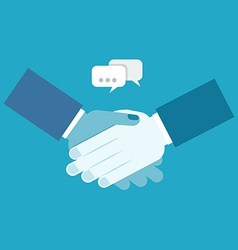 Shake hands business vector image