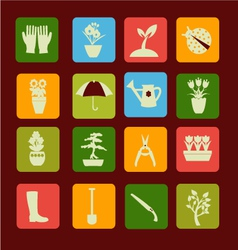 spring symbol gardening and vector image vector image