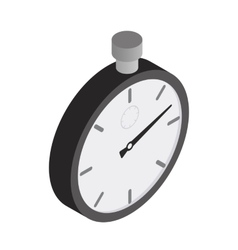 Stopwatch isometric 3d icon vector image vector image