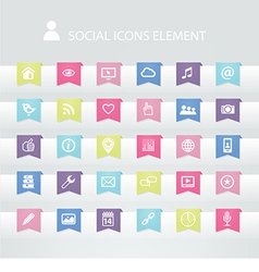 30 Social icons element vector image vector image
