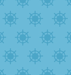 Nautical texture with Steering wheels vector image vector image