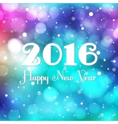 New year blurred background vector image