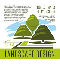 Poster for landscape design company vector