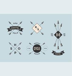 set of emblem label and design elements vector image vector image